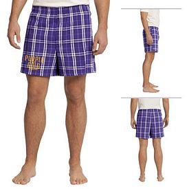 Customized District DT1801 Young Men's Flannel Plaid Boxer