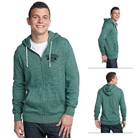 Customized District DT192 Young Men's Marled Fleece Full-Zip Hoodie