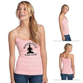Customized District DT232 Junior Ladies' 1x1 Rib Spaghetti Strap Tank