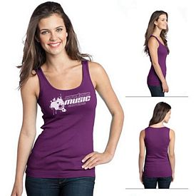 Customized District DT235 Junior Ladies' 1x1 Rib Tank