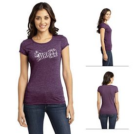 Customized District DT2400 Junior Ladies' Gravel 50/50 Girly Crew Tee