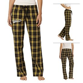 Customized District DT2800 Junior Ladies' Flannel Plaid Pant