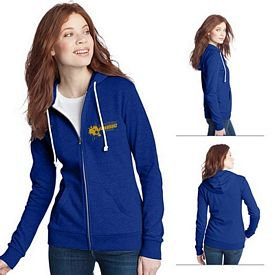 Customized District DT290 Junior Ladies' Core Fleece Full-Zip Hoodie