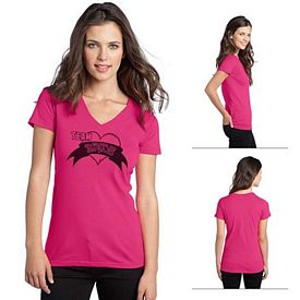 Customized District DT5501 Junior Ladies' The Concert Tee V-Neck