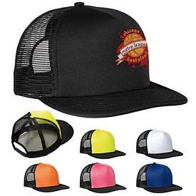 Customized District DT624 Flat Bill Snapback Trucker Cap