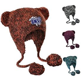 Customized District DT626 Hand Knit Cat-Eared Beanie