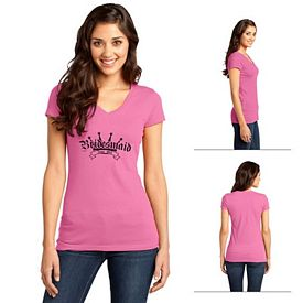 Customized District DT6501 Junior Ladies' Very Important Tee V-Neck