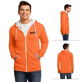 Customized District DT800 Young Men's The Concert Fleece Full-Zip Hoodie