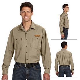 Customized Dri-Duck 4285 Men's Long-Sleeve Brick Workshirt