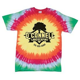 Customized Dyenomite 200BE Bullseye Tie-Dye T-Shirt