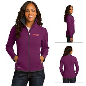 Customized Eddie Bauer EB223 Ladies' Full-Zip Vertical Fleece Jacket