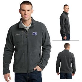 Customized Eddie Bauer EB230 Men's Wind Resistant Full-Zip Fleece Jacket
