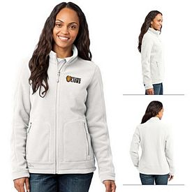 Customized Eddie Bauer EB231 Ladies' Wind Resistant Full-Zip Fleece Jacket