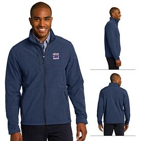 Customized Eddie Bauer EB532 Shaded Crosshatch Soft Shell Jacket