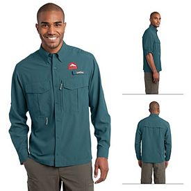 Customized Eddie Bauer EB600 Long Sleeve Performance Fishing Shirt