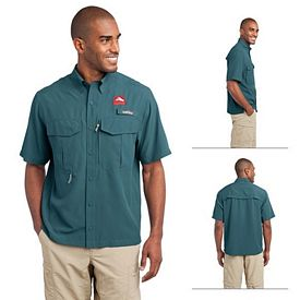 Customized Eddie Bauer EB602 Short Sleeve Performance Fishing Shirt
