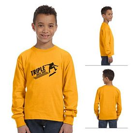 Customized Fruit of the Loom 4930B Youth 5 oz 100% Heavy Cotton HD Long-Sleeve T-Shirt