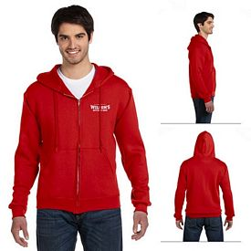 Customized Fruit of the Loom 82230 Adult 12 oz Supercotton 70/30 Full-Zip Hood