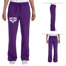 Customized Gildan 18400FL Ladies' 8 oz Heavy Blend Open-Bottom Sweatpants