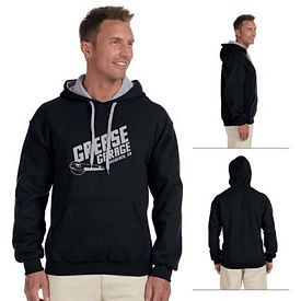 Customized Gildan 185C00 Adult 8 oz HeavyBlend Contract Hood Sweatshirt