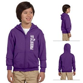 Customized Gildan 18600B Youth 8 oz Heavy Blend Full Zip Hood Sweatshirt