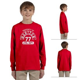 Customized Gildan 2400B Youth Ultra Cotton Long Sleeve T-Shirt