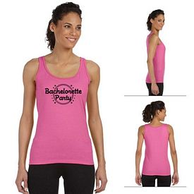 Customized Gildan 64200L Ladies' 4.5 oz SoftStyle Junior Fit Tank Top