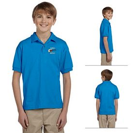 Customized Gildan 8800B Youth 5.6 oz DryBlend Jersey Polo Shirt