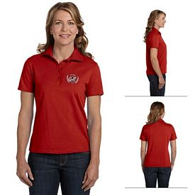 Customized Hanes 035X Ladies' 7 oz ComfortSoft Cotton Pique Polo