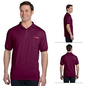 Customized Hanes 054P 5.5 oz 50/50 EcoSmart Jersey Pocket Polo