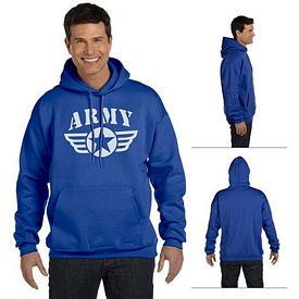 Customized Hanes F170 Adult 10 oz Ultimate Cotton 90/10 Pullover Hood