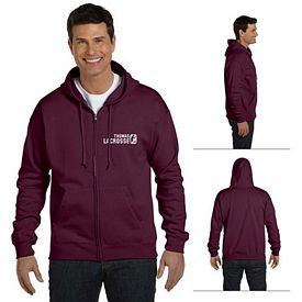Customized Hanes P180 7.8 oz ComfortBlend EcoSmart 50/50 Full-Zip Hood