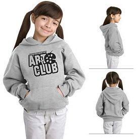 Customized Hanes P470 Youth 7.8 oz ComfortBlend EcoSmart 50/50 Pullover Hood