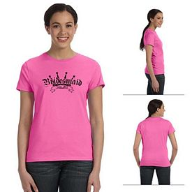Customized Hanes SL04 Ladies' 4.5 oz 100% Ringspun Cotton nano-T T-Shirt