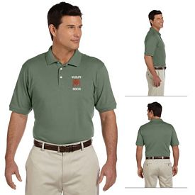Customized Harriton M100 Mens 6.5 oz Ringspun Cotton Pique Short-Sleeve Polo
