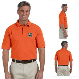 Customized Harriton M200 Mens 6 oz Ringspun Cotton Pique Short-Sleeve Polo