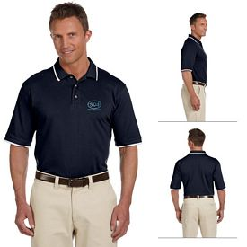 Customized Harriton M210 6 oz Short-Sleeve Pique Polo with Tipping