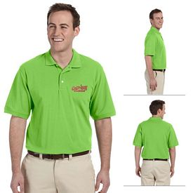 Customized Harriton M265 Mens 5.6 oz Easy Blend Polo