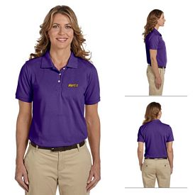 Customized Harriton M265W Ladies 5.6 oz Easy Blend Polo