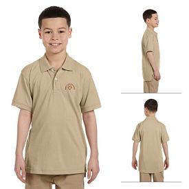 Customized Harriton M265Y Youth 5.6 oz Easy Blend Polo