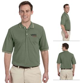 Customized Harriton M270 5.6 oz Tipped Easy Blend Polo