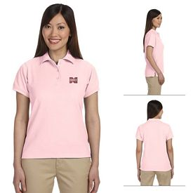 Customized Harriton M280W Ladies 5 oz Easy Blend Plus Polo