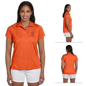 Customized Harriton M315W Ladies 4 oz Polytech Polo