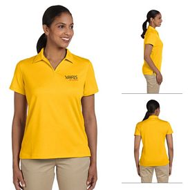 Customized Harriton M353W Ladies 3.5 oz Double Mesh Sport Shirt