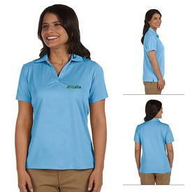 Customized Harriton M354W Ladies 3.8 oz Micro Pique Polo