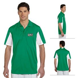 Customized Harriton M355 Mens 3.8 oz Side Blocked Micro Pique Polo