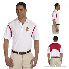 Customized Harriton M356 Mens 3.8 oz Back Blocked Micro Pique Polo