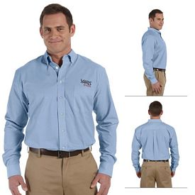 Customized Harriton M555 Mens Chambray Shirt