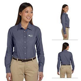 Customized Harriton M555W Ladies Chambray Shirt