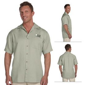 Customized Harriton M570 Mens Bahama Cord Camp Shirt
